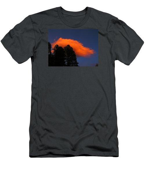 Orange Cloud Men's T-Shirt (Athletic Fit)