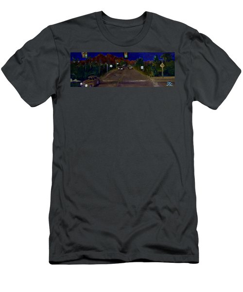 Orange Grove And La Canada Men's T-Shirt (Slim Fit) by Julie Todd-Cundiff