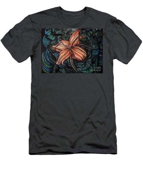 Orange Lily Men's T-Shirt (Athletic Fit)