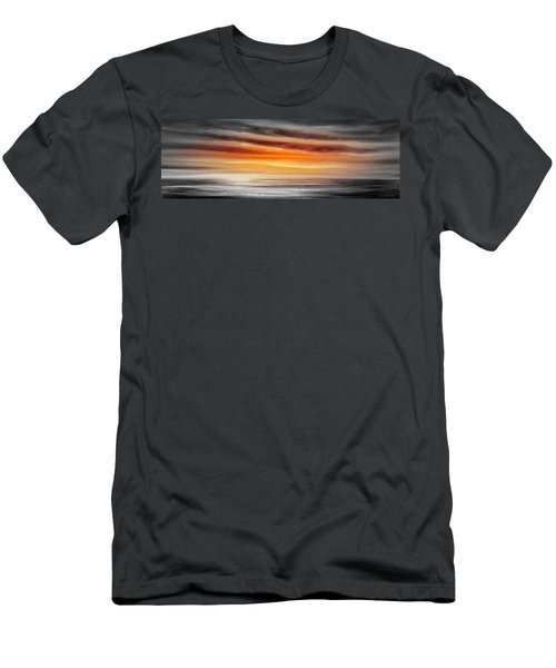 Orange Sunset - Panoramic Men's T-Shirt (Athletic Fit)