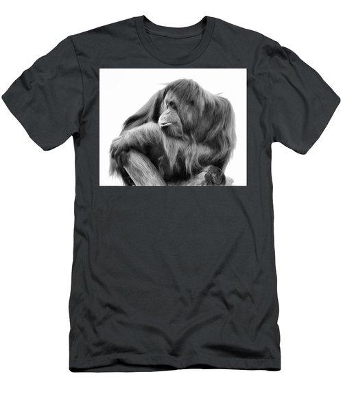 Men's T-Shirt (Slim Fit) featuring the photograph Orangutan by Lana Trussell