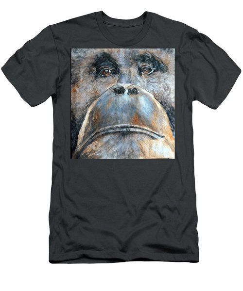 Orangutan Men's T-Shirt (Slim Fit) by Maureen Murphy
