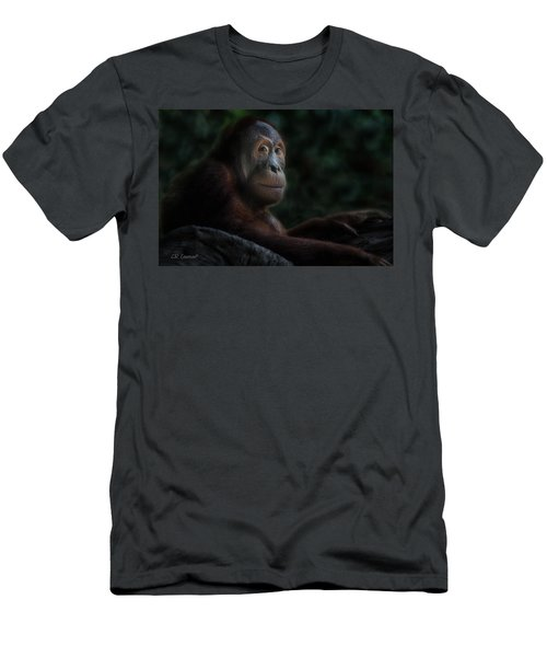 Orangutan Session Men's T-Shirt (Slim Fit) by CR  Courson