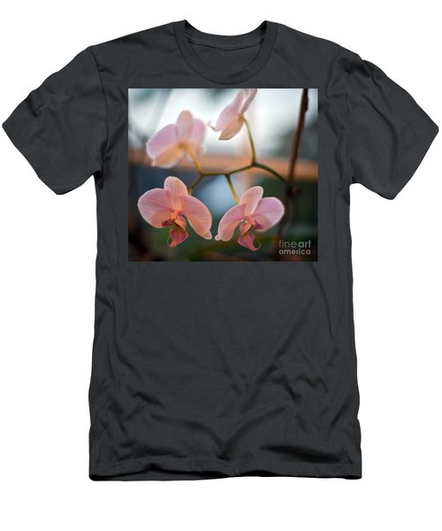 Orchid Menage Men's T-Shirt (Slim Fit) by Mike Reid
