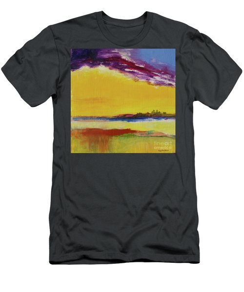 Men's T-Shirt (Athletic Fit) featuring the painting Orchid Sky by Robin Maria Pedrero