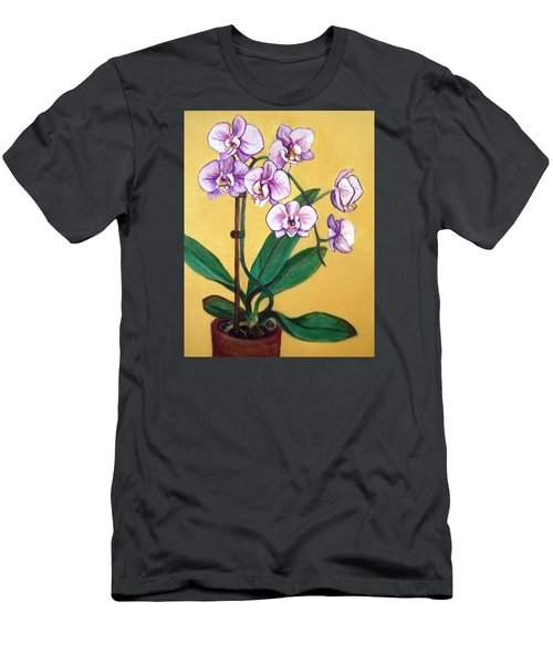 Orchids Men's T-Shirt (Slim Fit) by Laura Aceto