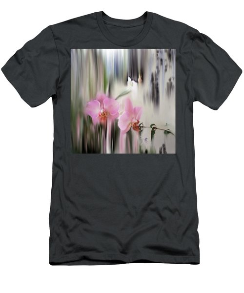 Orchids With Dragonflies Men's T-Shirt (Athletic Fit)