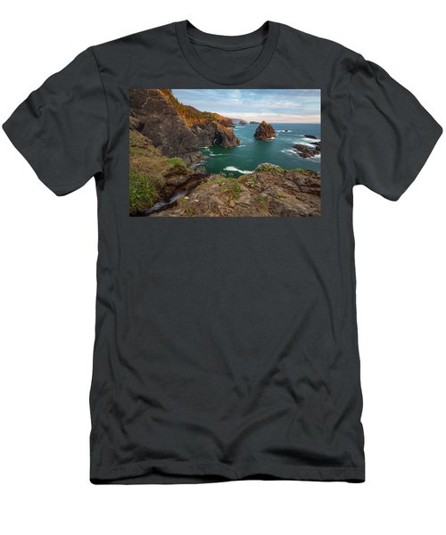 Men's T-Shirt (Slim Fit) featuring the photograph Oregon Coastal Scenic by Leland D Howard