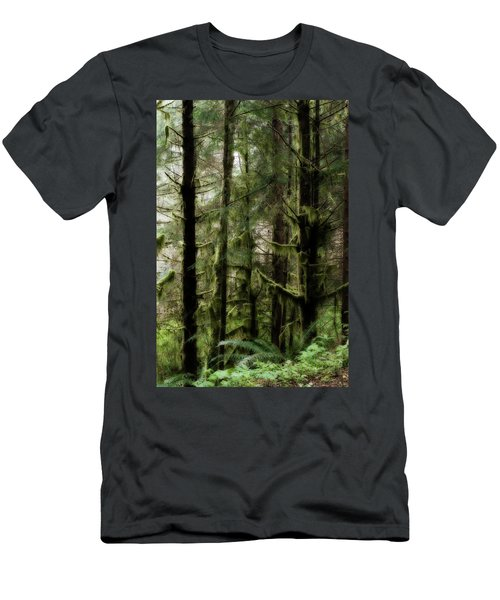 Oregon Old Growth Coastal Forest Men's T-Shirt (Athletic Fit)