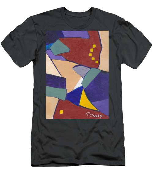 Organic Abstract Series IIi Men's T-Shirt (Slim Fit) by Patricia Cleasby