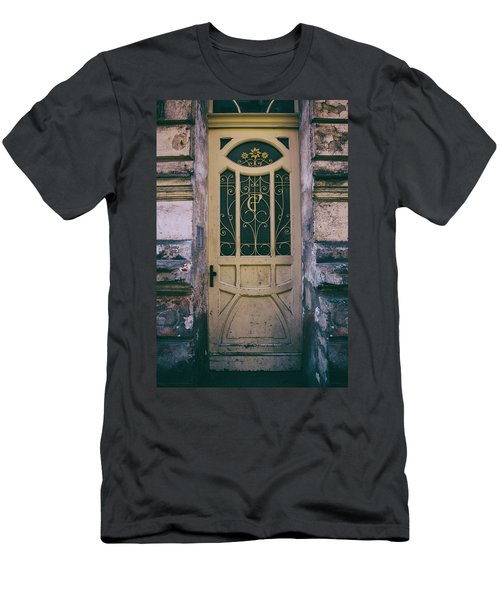 Ornamented Doors In Light Brown Color Men's T-Shirt (Slim Fit) by Jaroslaw Blaminsky