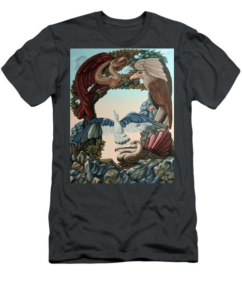 Ornithological Symphony By Ludwig Van Beethove Men's T-Shirt (Athletic Fit)