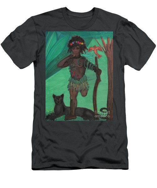 Men's T-Shirt (Athletic Fit) featuring the drawing Osain by Gabrielle Wilson-Sealy
