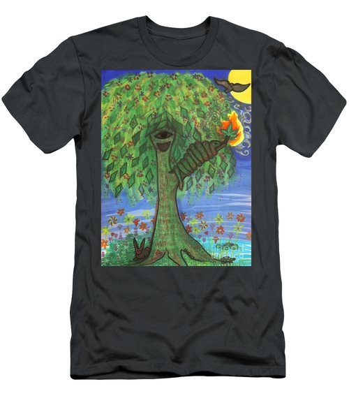 Men's T-Shirt (Athletic Fit) featuring the drawing Osain Tree by Gabrielle Wilson-Sealy