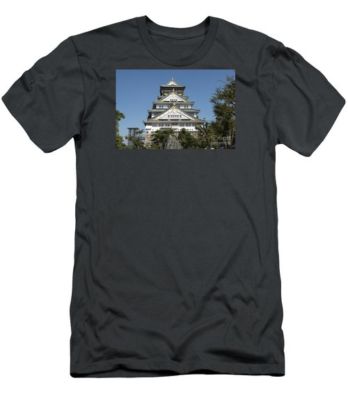 Men's T-Shirt (Slim Fit) featuring the photograph Osaka Castle by Pravine Chester
