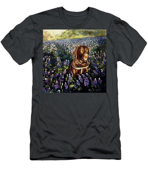 Otis In The Bluebonnets Men's T-Shirt (Athletic Fit)