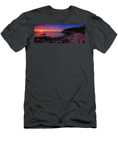 Men's T-Shirt (Slim Fit) featuring the photograph Otter Beach Maine Sunrise  by Emmanuel Panagiotakis
