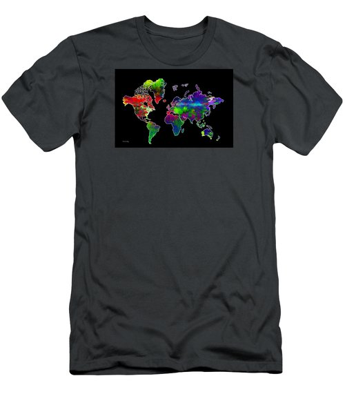 Our Colorful World Men's T-Shirt (Slim Fit) by Randi Grace Nilsberg