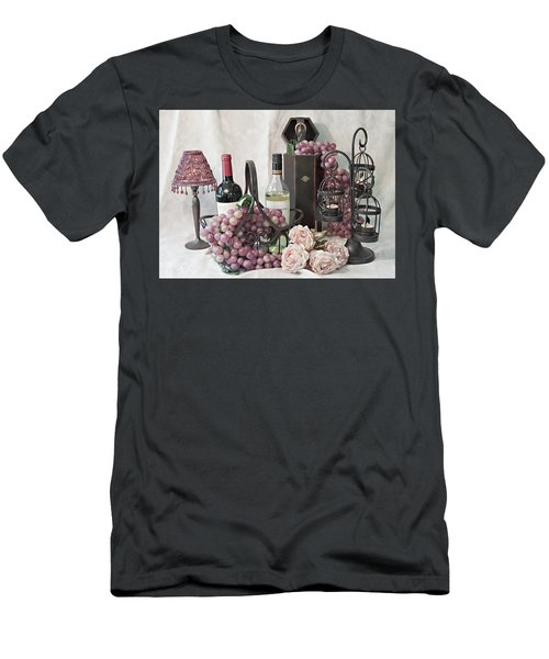 Men's T-Shirt (Slim Fit) featuring the photograph Our Wine Cellar by Sherry Hallemeier