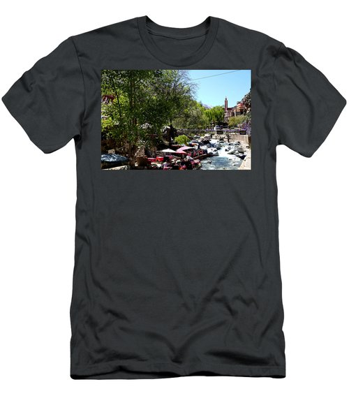 Men's T-Shirt (Slim Fit) featuring the photograph Ourika Valley 1 by Andrew Fare
