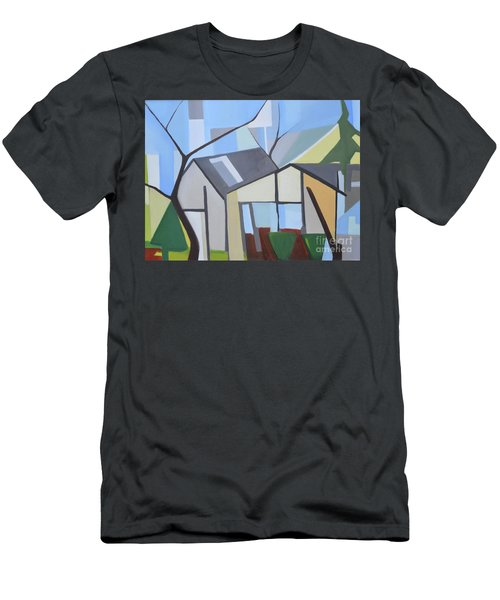 Out Back Down Oakwood Men's T-Shirt (Slim Fit) by Ron Erickson