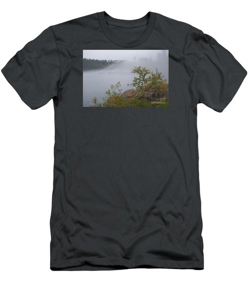 Men's T-Shirt (Slim Fit) featuring the photograph Out Of The Fog by Sandra Updyke