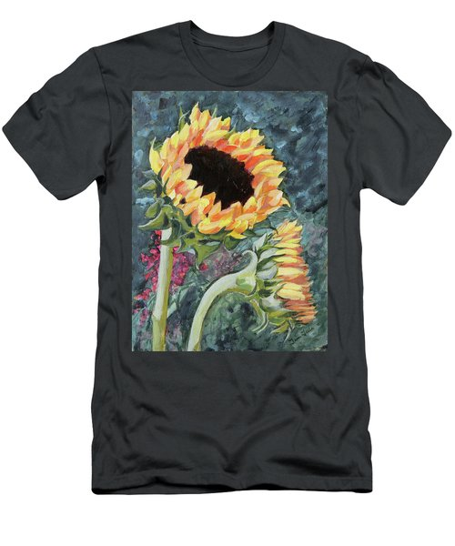 Outdoor Sunflowers Men's T-Shirt (Athletic Fit)
