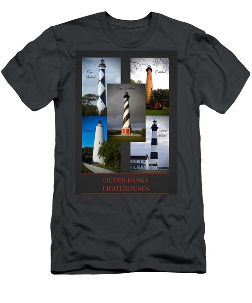 Outer Banks Lighthouses Men's T-Shirt (Athletic Fit)