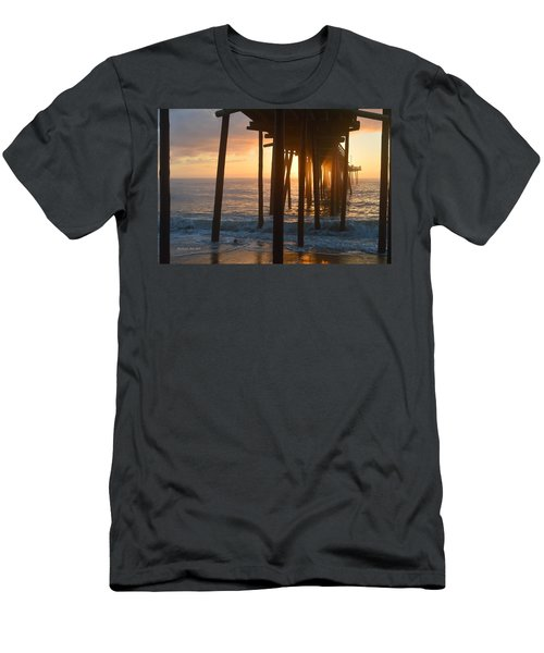 Men's T-Shirt (Athletic Fit) featuring the photograph Outer Banks Pier 7/6/18 by Barbara Ann Bell
