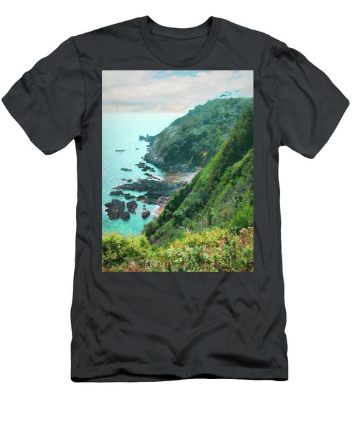Men's T-Shirt (Athletic Fit) featuring the photograph South End Of Guernsey by Bellesouth Studio
