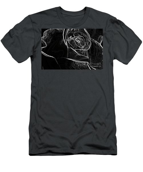 Men's T-Shirt (Slim Fit) featuring the photograph Outline Of A Rose by Micah May
