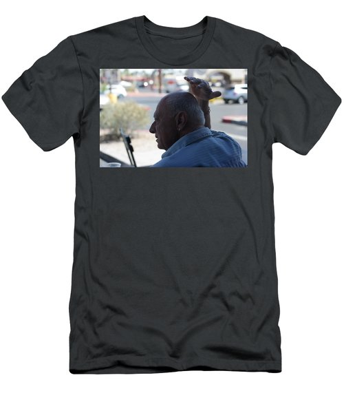 Outside The Cafe Men's T-Shirt (Athletic Fit)