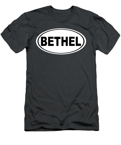 Men's T-Shirt (Slim Fit) featuring the photograph Oval Bethel Connecticut Home Prid by Keith Webber Jr
