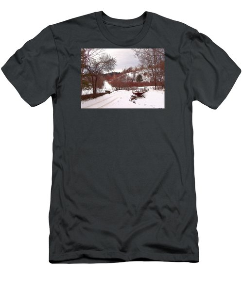 Men's T-Shirt (Slim Fit) featuring the photograph Over The River by Betsy Zimmerli