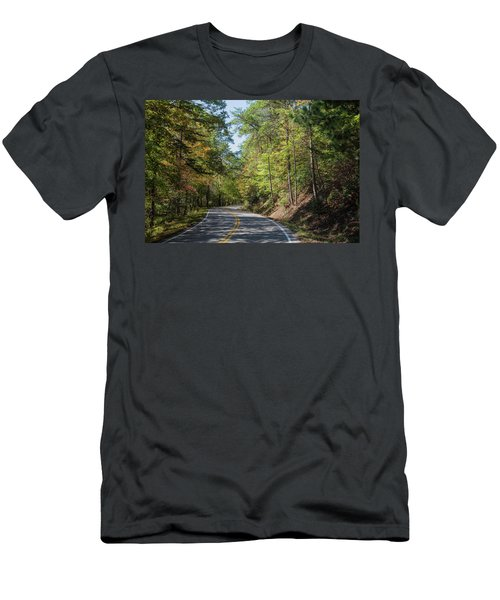 Men's T-Shirt (Athletic Fit) featuring the photograph Overhill Skyway by John M Bailey