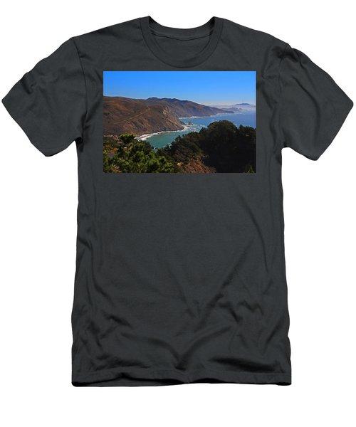 Overlooking Marin Headlands Men's T-Shirt (Slim Fit) by Michiale Schneider