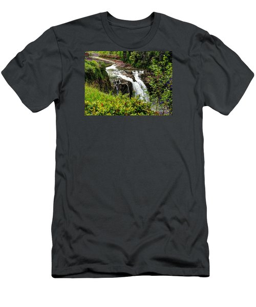 Overlooking Snoqualmie Falls Men's T-Shirt (Slim Fit) by Chris Anderson