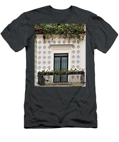 Overlooking The Piazza Men's T-Shirt (Athletic Fit)