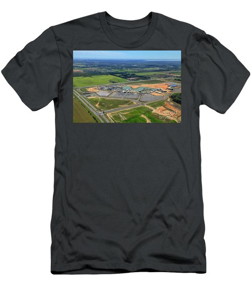 Men's T-Shirt (Athletic Fit) featuring the photograph Owa 7674 by Gulf Coast Aerials -