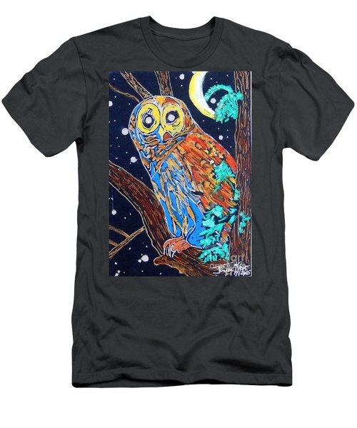 Owl Light Men's T-Shirt (Athletic Fit)