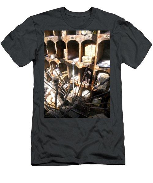 Men's T-Shirt (Slim Fit) featuring the photograph Owl Post Office Hogsmeade by Juergen Weiss