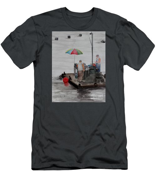 Oystering On Tomales Bay Men's T-Shirt (Athletic Fit)