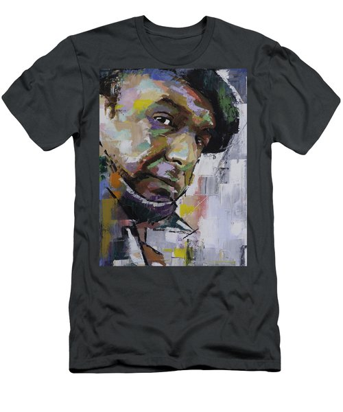 Men's T-Shirt (Slim Fit) featuring the painting Pablo Neruda by Richard Day