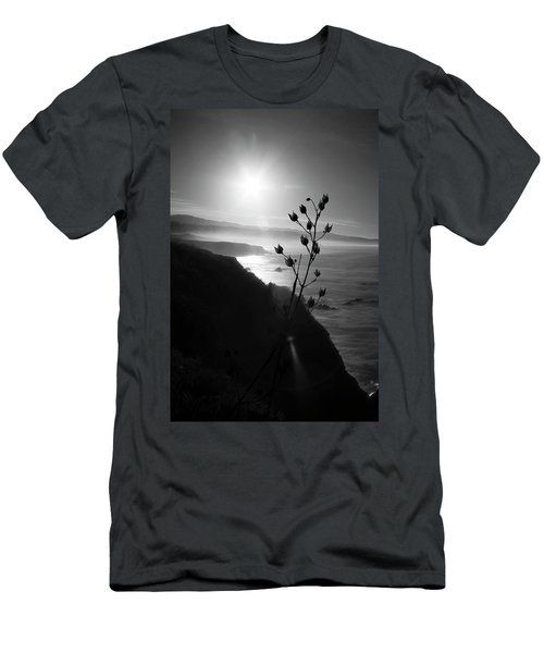 Pacific Coast B/w Men's T-Shirt (Athletic Fit)