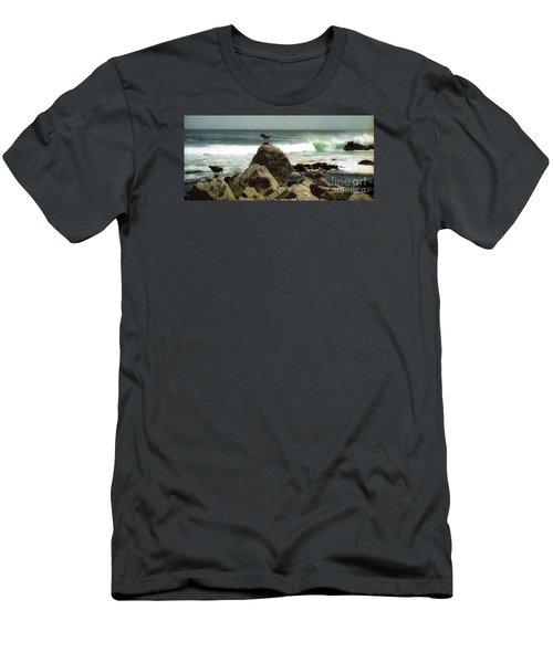 Pacific Coast Beach Rock Men's T-Shirt (Athletic Fit)
