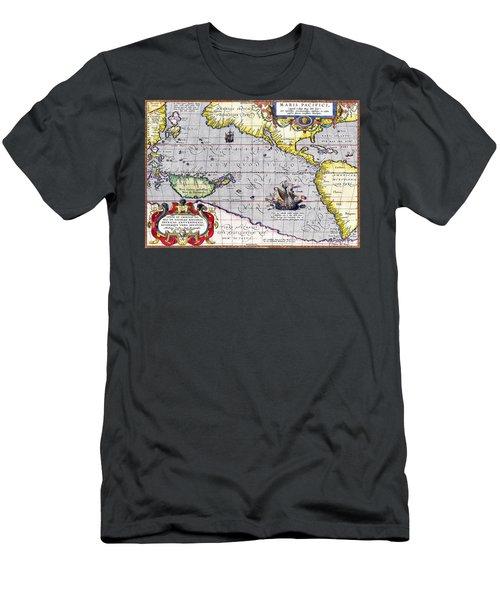 Pacific Ocean Vintage Map Men's T-Shirt (Athletic Fit)