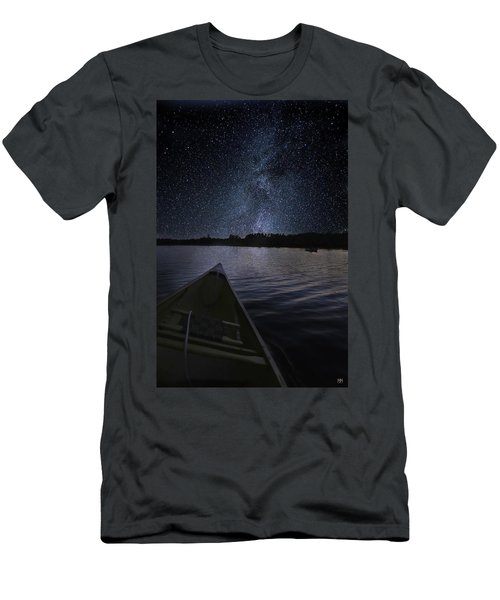 Paddling The Milky Way Men's T-Shirt (Athletic Fit)