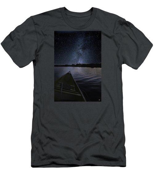 Paddling The Milky Way Men's T-Shirt (Slim Fit)