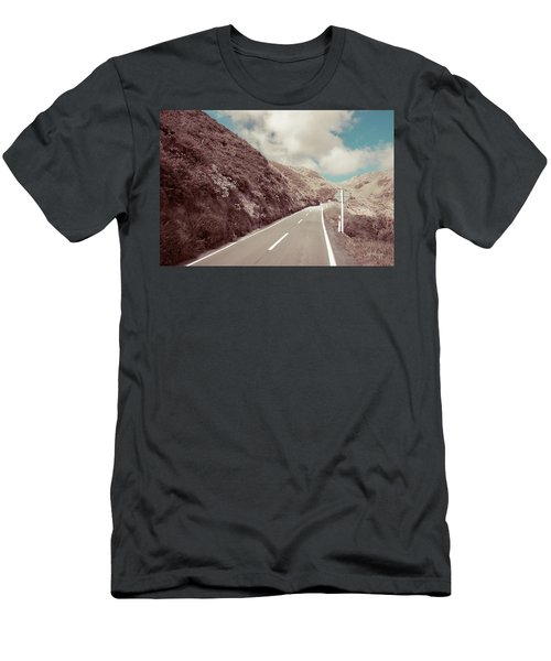 Men's T-Shirt (Slim Fit) featuring the photograph Paekakariki Hill Road by Joseph Westrupp