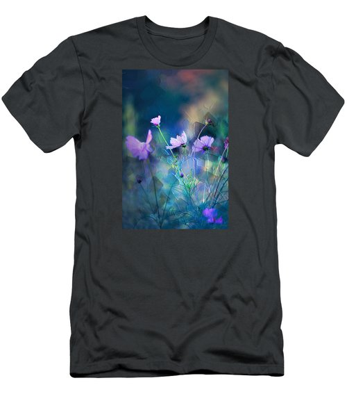 Painted Flowers Men's T-Shirt (Slim Fit) by John Rivera